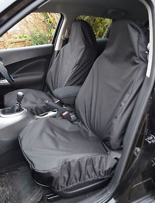 Mini Cooper One D S Heavy Duty Waterproof Black Car Van Seat Covers Pair 1+1