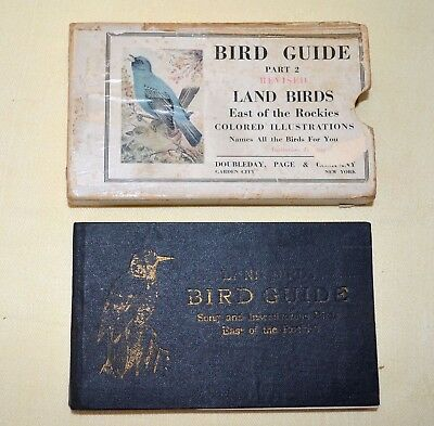 Vintage 1926 Bird Guide Book Colored Illustrations Land Birds East Of Rockies
