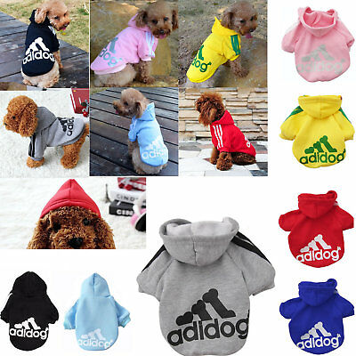 Pet Dog Adidog Puppy Sweater Hoodie Coat For Warm Costume Apparel New