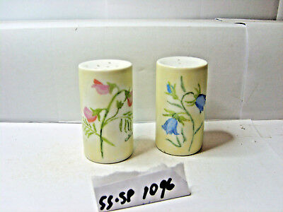 with blue flowers with pink flowers germany salt and pepper shakers