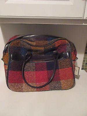 Vintage SKYWAY Woven Colorful WOOL Satchel Tote Shoulder Bag Boho New with Tags