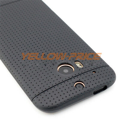 For HTC One M8 Phone Case Cover Slim Matte Black Hybrid Soft Shockproof Rubber