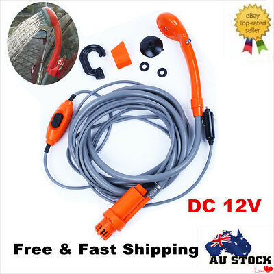 Car Washer 12V Camping Shower DC Portable Car Shower Washer Set Electric Pump