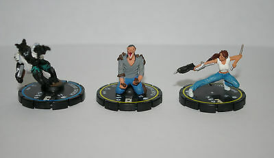 HorrorClix 2006 & 2007, Lot of 3, 'HorrorClix Base and Lab' Clix Figures, OOP