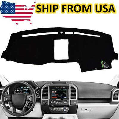 Black Fits 2015-2017 FORD F-150 Custom Fit Dash Cover Carpet Dashboard Cover