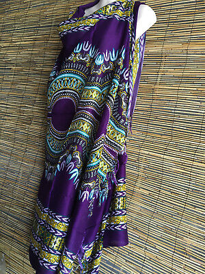 Lot of 7 RAYON SARONGS.115X 160CM.7 colors.African ethnic popular print.Decor.