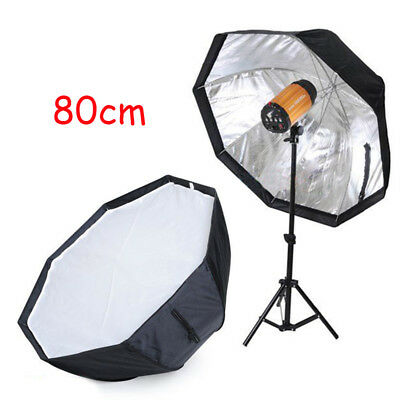 80cm Pro Octagon Umbrella Flash Softbox Reflector For Studio Flash Strobe 【AU】