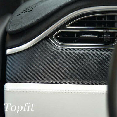 Topfit Car Dashboard Carbon Fiber Stickers for Tesla Model X and S 4pcs/set