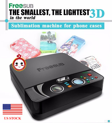 Smart 3D Mini Vacuum Phone Case Heat Press Sublimation Machine ST-2030 US Stock