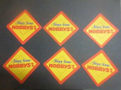 "6 x "" Fancy Some ""  NOBBYS,  NUTS   collectable COASTERS"