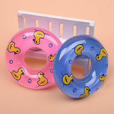 2x Swimming Laps Full of Gas Buoy Swim Beach Cork Hoop For Doll Kid Toy~