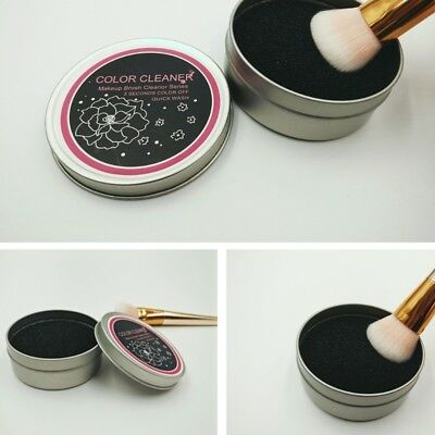 Professional Makeup Brush Color Clean Eyeshadow Sponge Tool Remover Cleaner Box