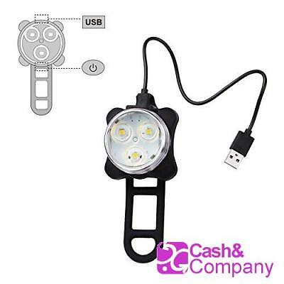 Ascher - Luces Recargables Led Bicicleta Frontal Y Trasera - 4 Modos 5