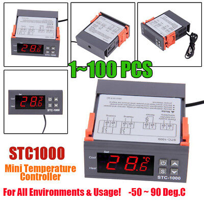 1~100PCS Digital STC-1000 Temperature Controller Thermostat With Sensor FS