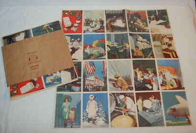 Vtg 40's COCA COLA Our America COTTON Advertising POSTER Set 9 in Orig FOLDER