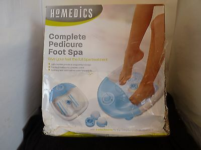 Homedics Complete Pedicure Foot Spa 3 Attachments New