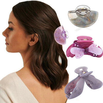Women's Hair Claw Clamps Clips Butterfly Claw Clamp Banana Clip Ponytail Holders