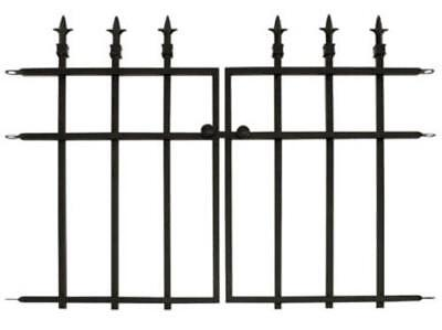 "Panacea 87104 Classic Gate With Finial, 27"" x 37"", Black"