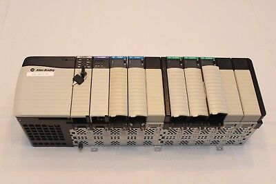 Allen Bradley 10 slot chassis complete with L61 processor and various cards