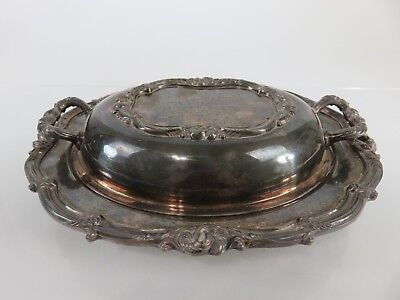 Large Heavy Amston Silver Entree Serving Dish, c1920s