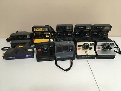 Lot of 10 Polaroid Instant Cameras all Tested and Working