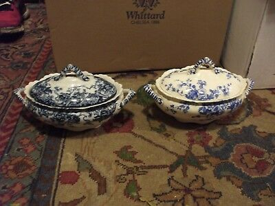 A Pair Of K & Co Late Mayers Blue And White Tureens