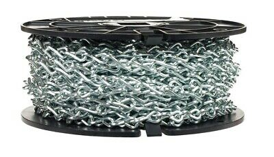 CAMPBELL 0721727 Low Carbon Steel Single Jack Chain 0.11-Inch Diameter Zinc Plated 12 Trade 29-Pound Load Capacity 100 Feet Reel