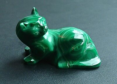 Malachite 58 grammes Chat - Natural cat Malachite