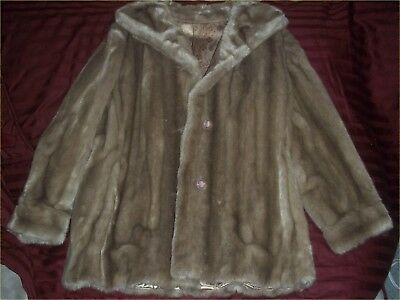 Vintage Dubrowsky and Joseph Tissavel France Faux Fur Coat Size 18