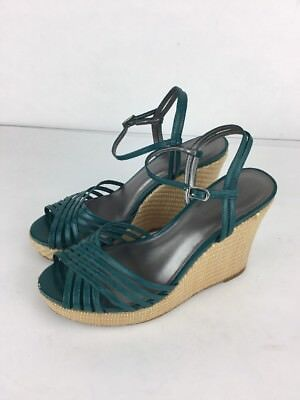 Ann Taylor  Strappy Wedge Shoes Sandals 7