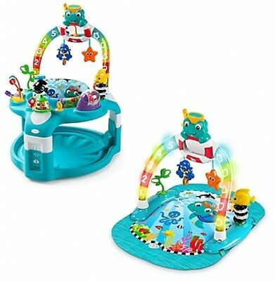 Baby Einstein 2in1 Lights Sea Activity Gym & Saucer Transformer Toy Play Space