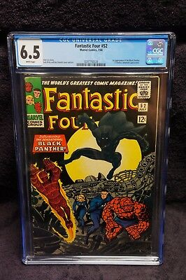 Fantastic Four #52 Cgc 6.5 White Pages 1St Appearance Black Panther