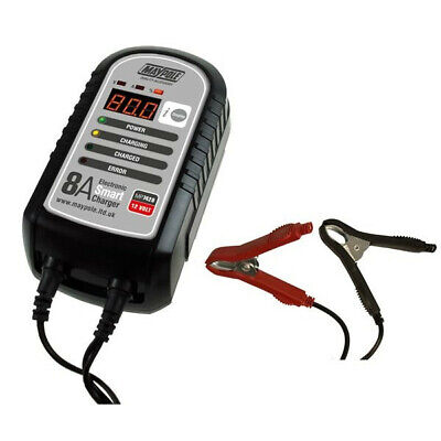 MAYPOLE Battery Charger - 8A - 12V - Electronic Smart - MP7428