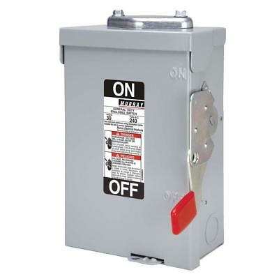 Siemens Murray 30A 240V Outdoor Disconnect Switch Ghn321Nwu