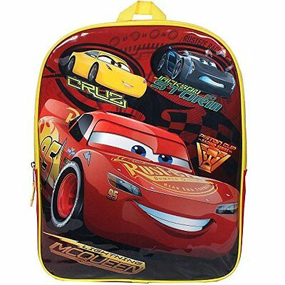 """Disney Cars Jackson /& Lightning McQueen 16/"""" Backpack With Lunch Box-2 Piece Set"""