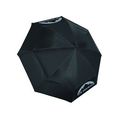 "Sun Mountain Auto Open 62"" Umbrella BLACK Clearance FREE P&P"