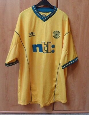 Celtic Fc Short Sleeved Away Football Shirt-Xl Size-Year Unknown