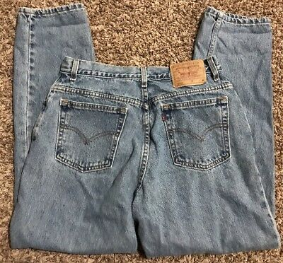 Levi 550 Vintage Mom Jeans Womens Size 14 M Relaxed Fit Tapered Leg 32x30