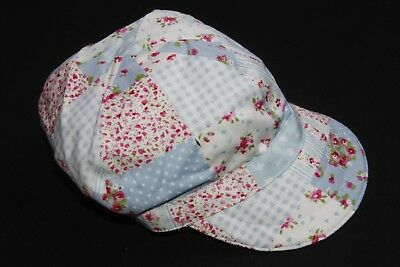 b4ac713232b Cool Unique Baby Hat Blue  Pink Floral Print 5 panel Style Cap Swag (S254
