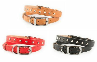 Heritage Ancol Leather Collars Black, Tan or Red