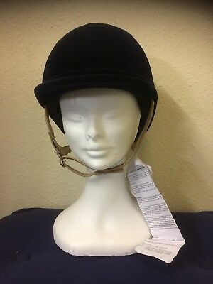 Charles Owen Fiona Riding Hat Navy Size 7 1/8 (58)