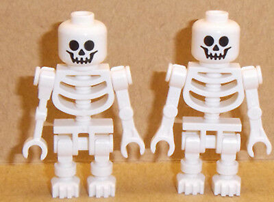 LEGO - WHITE Skeleton Arms Bent with Clips X2 Minifig
