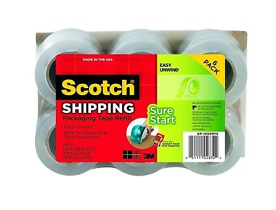 Packing Refill Rolls Scotch 3m Easy Grip Tape Sealing Shipping Clear 6