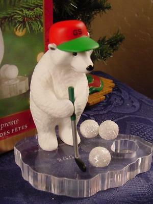 HALLMARK CHRISTMAS ORNAMENT Polar Bear Putter GOLFER SUPREME GOLF TREE GOLFING w