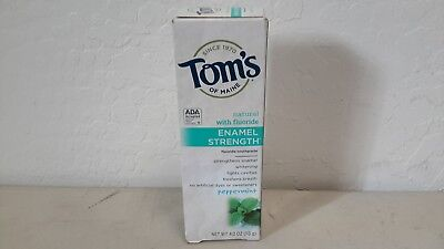 Tom's of Maine Enamel Strength Fluoride Toothpaste, Peppermint 4 oz  [115e]