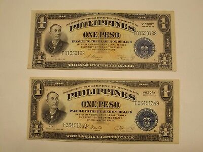 Philippines Victory Series One Peso Banknotes Series NO. 66
