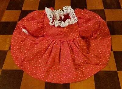 💞Mattel My Child Doll💞 Original Red Spot Pinny Dress (only) ♡ EC ♡ make a set