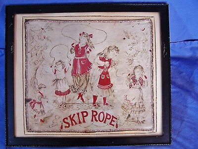 Antique Handkerchief Children SKIP ROPE Washington S H Greene & Sons c1900