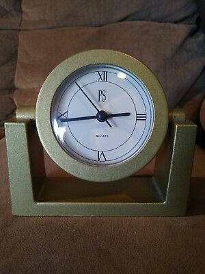 1996 PS Limited Edition Gold Color Mantel Clock **Tested**