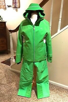 Kjus Ladies Formula Insulated Ski Jacket SZ 42 and Pants SZ 40 Green RARE EUC